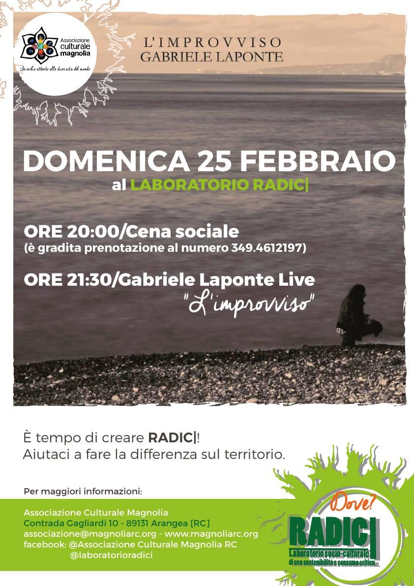 L'Improvviso Tour - Gabriele Laponte