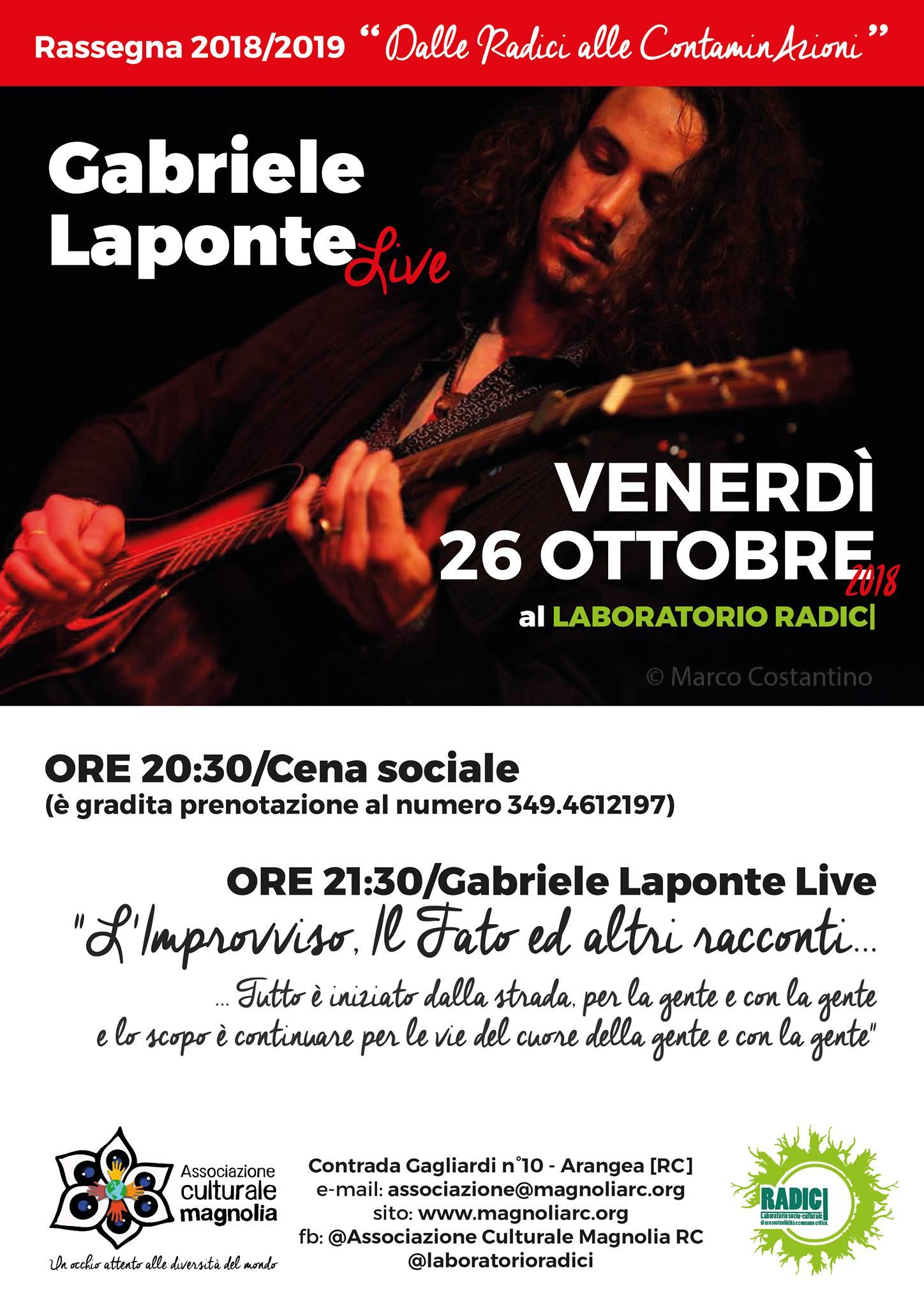 Gabriele Laponte Live