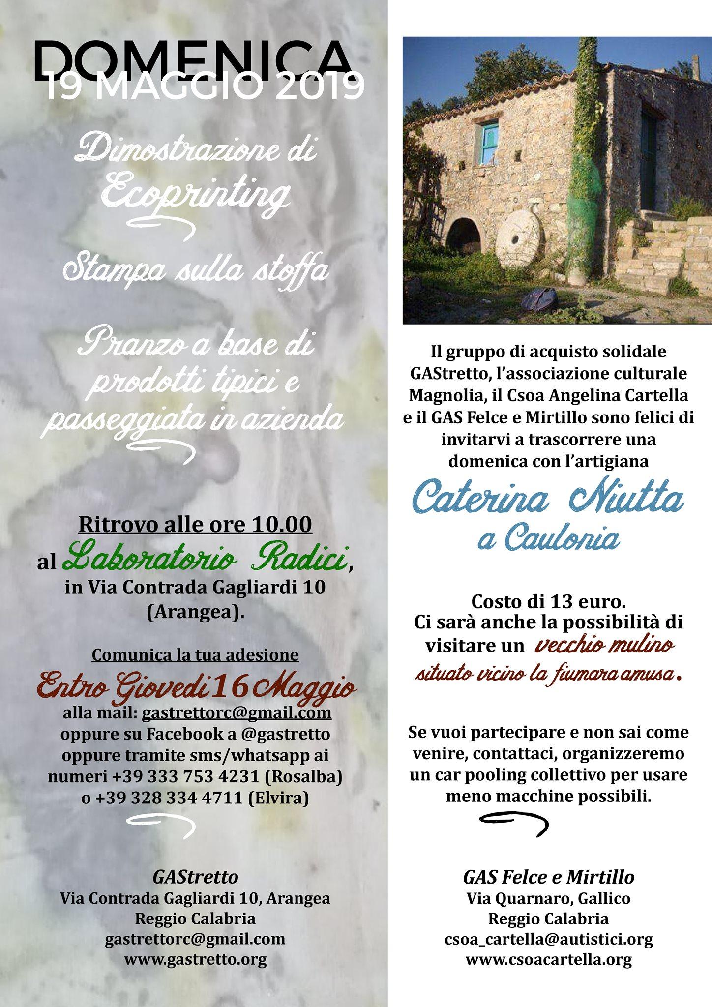 Visita all'azienda artigianale di Caterina Niutta a Caulonia